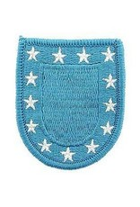 """MidMil Embroidered Army Beret Flash Patch 2"""" wide x 2.3"""" high Blue"""