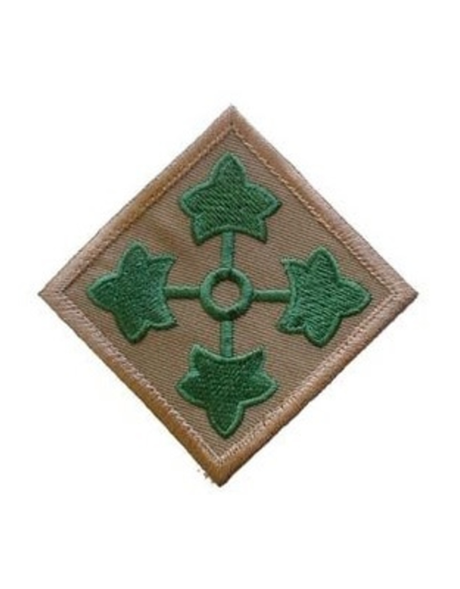 """MidMil Embroidered Army 4th Infantry Division Emblem Patch 3"""" wide x 3"""" high"""