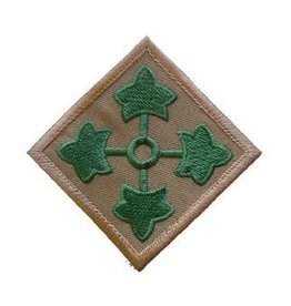 "MidMil Embroidered Army 4th Infantry Division Emblem Patch 3"" wide x 3"" high"