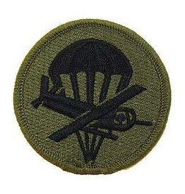 "MidMil Embroidered Subdued Army Paraglider Officer Patch  3"" Olive Drab"