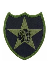 "MidMil Embroidered Subdued 2nd Infantry Division Patch 3.5"" wide x 4.2"" high OD"