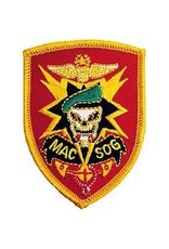 """MidMil Embroidered Military Assistance Command Vietnam Studies and Observations Group MAC V SOG Emblem Patch 2.1"""" wide x 2.9"""" high"""