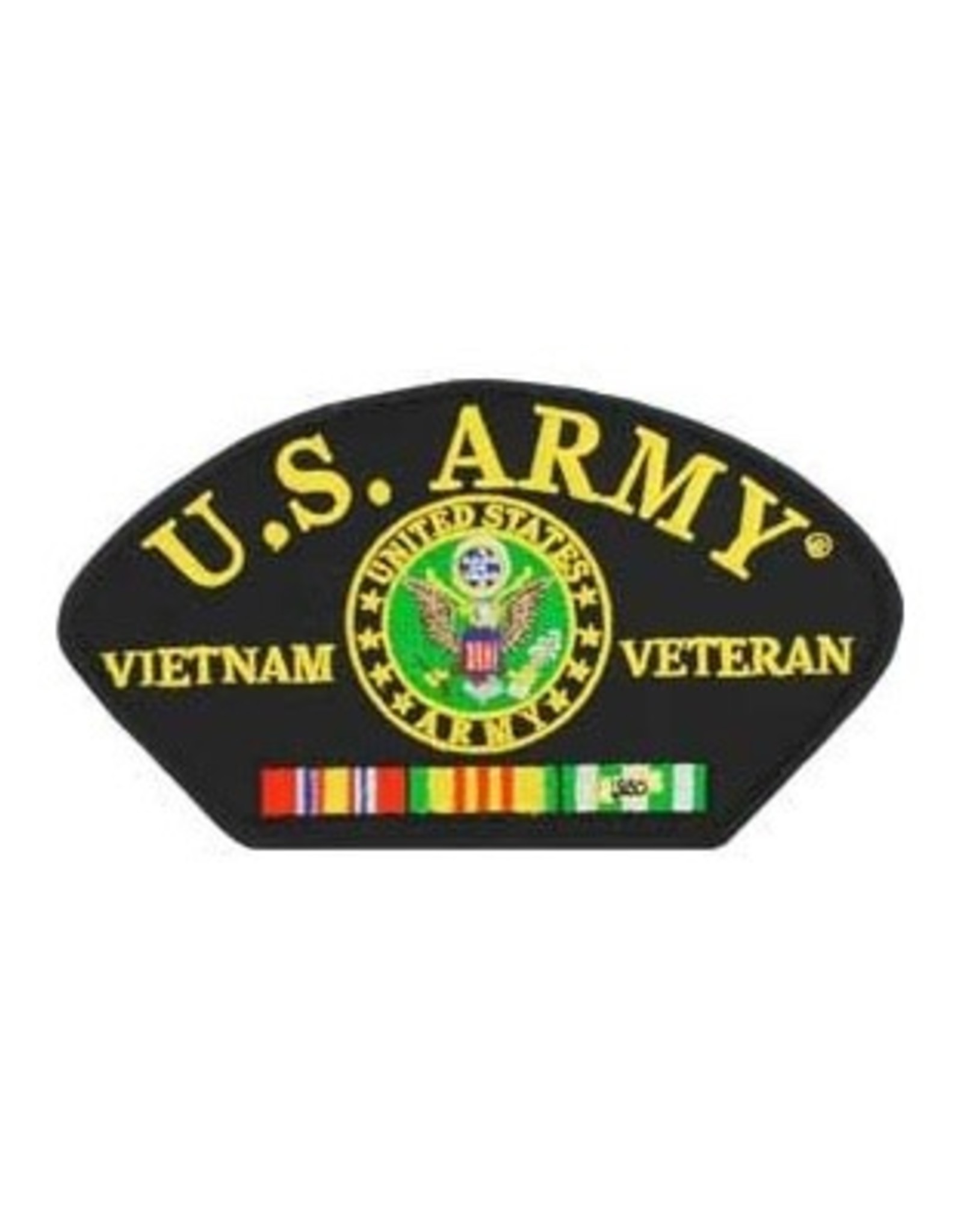 """MidMil Embroidered U.S. Army Vietnam Veteran Patch with Seal and Ribbons 5.2"""" wide x 3"""" high"""