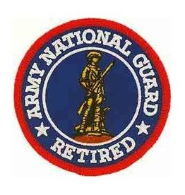 """MidMil Embroidered Army National Guard Retired Patch 3"""""""