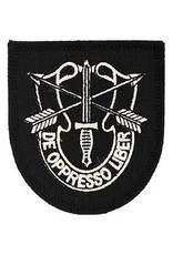 "MidMil Army Special Forces Flash Patch 2.7"" wide x 3"" high Black"