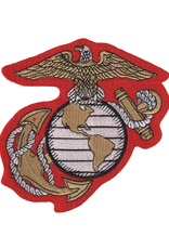 """MidMil Embroidered Marine Corps Globe and Anchor Emblem 5.4"""" wide x 5.9"""" high"""