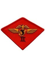 """MidMil Embroidered 2nd Marine Aircraft Wing Patch 3.8"""" wide x 2.8"""" high"""
