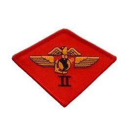 "MidMil Embroidered 2nd Marine Aircraft Wing Patch 3.8"" wide x 2.8"" high"