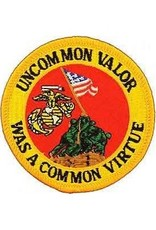 """MidMil Embroidered Marine Corps Iwo Jima """"Uncommon Valor Was a Common Virtue"""" Patch 3"""""""