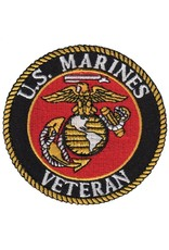 """MidMil Embroidered Marine Corps Veteran Seal Patch 3"""""""