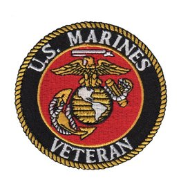 MidMil Embroidered Marine Corps Veteran Seal Patch 3""