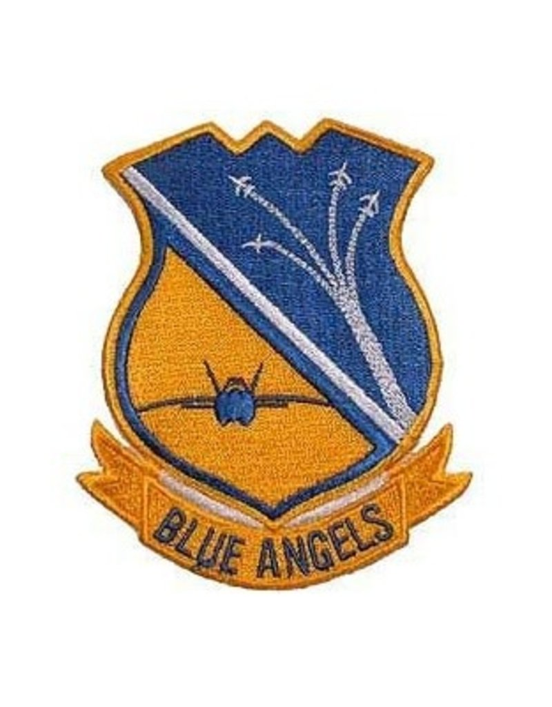 "MidMil Embroidered Navy Blue Angels Patch 3"" wide x 3.5"" high"