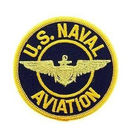 MidMil Embroidered U.S. Naval Aviation Patch with Wings 3""