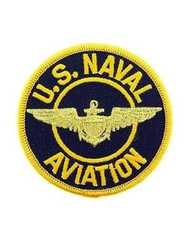 """MidMil Embroidered U.S. Naval Aviation Patch with Wings 3"""""""
