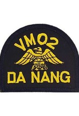 "MidMil Embroidered Navy VM02 Da Nang Vietnam 3"" wide x 2.6"" high Black"