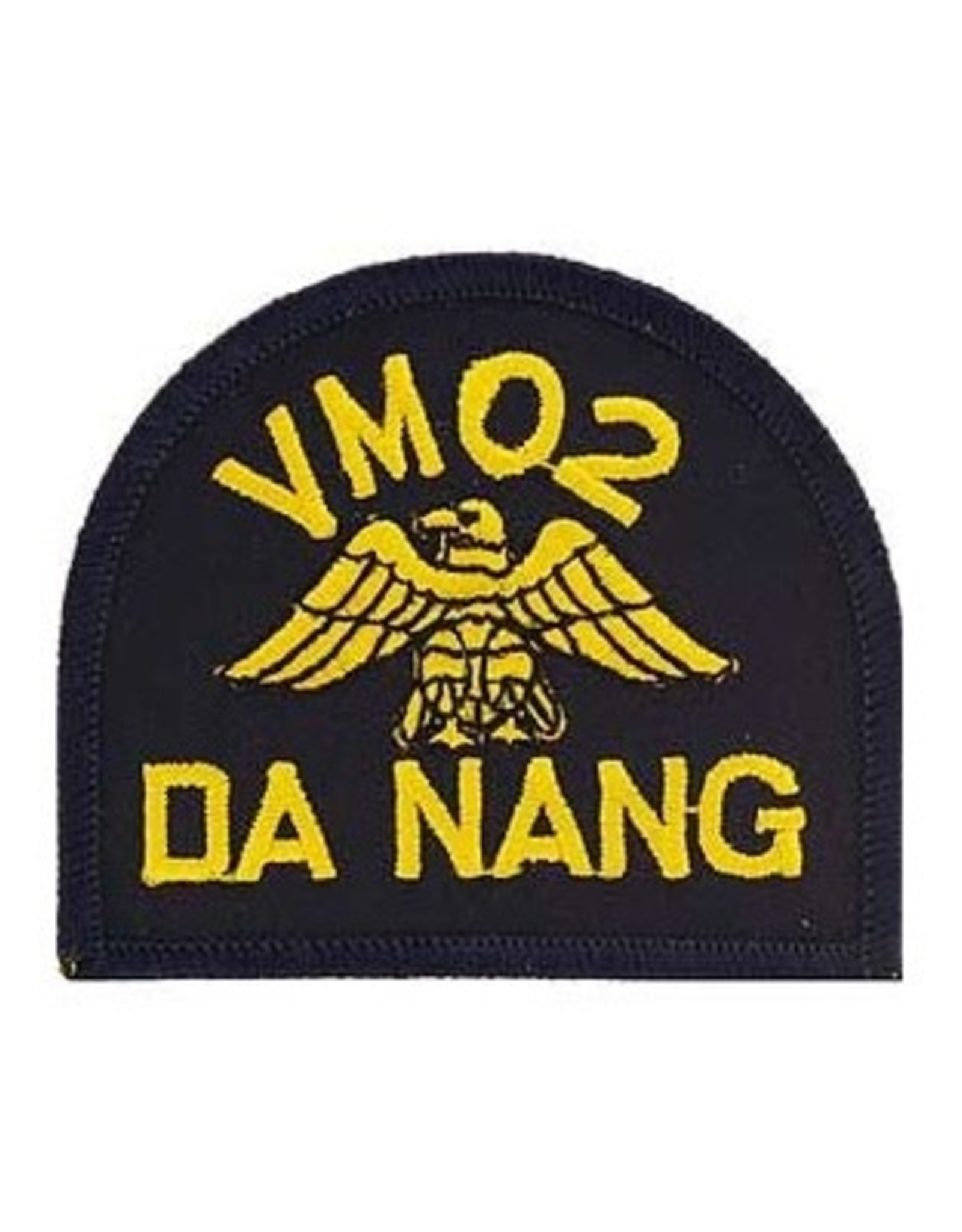 "MidMil Embroidered Navy VM02 Da Nang Vietnam 3"" wide x 2.6"" high Black"