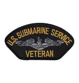 "MidMil Embroidered U.S. Submarine Service Veteran 5.2"" wide x 2.8"" high Dark Blue"