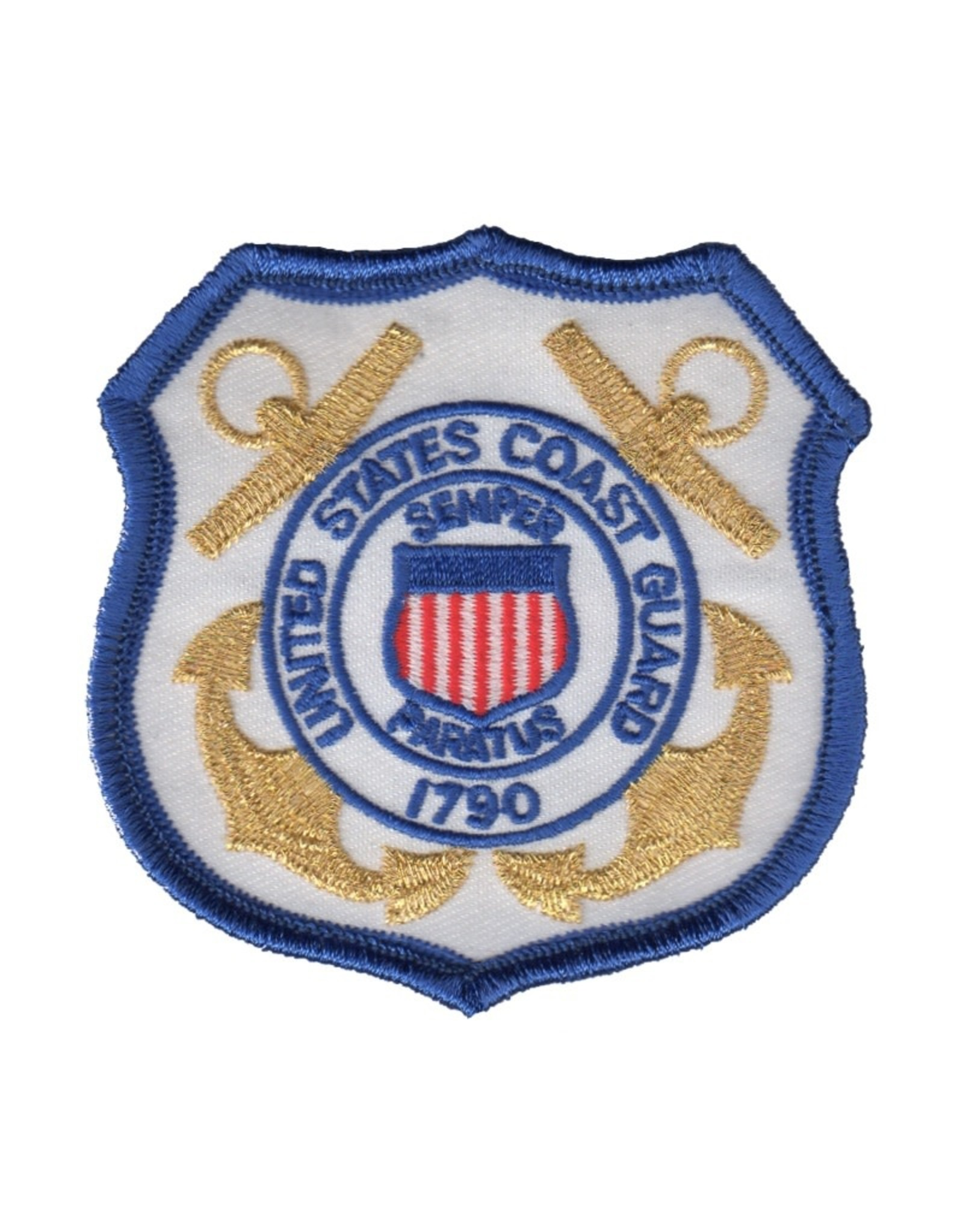 """MidMil Embroidered Coast Guard Emblem Patch 3.2"""" wide x 3.2"""" high"""