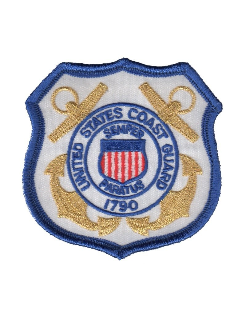 "MidMil Embroidered Coast Guard Emblem Patch 3.2"" wide x 3.2"" high"