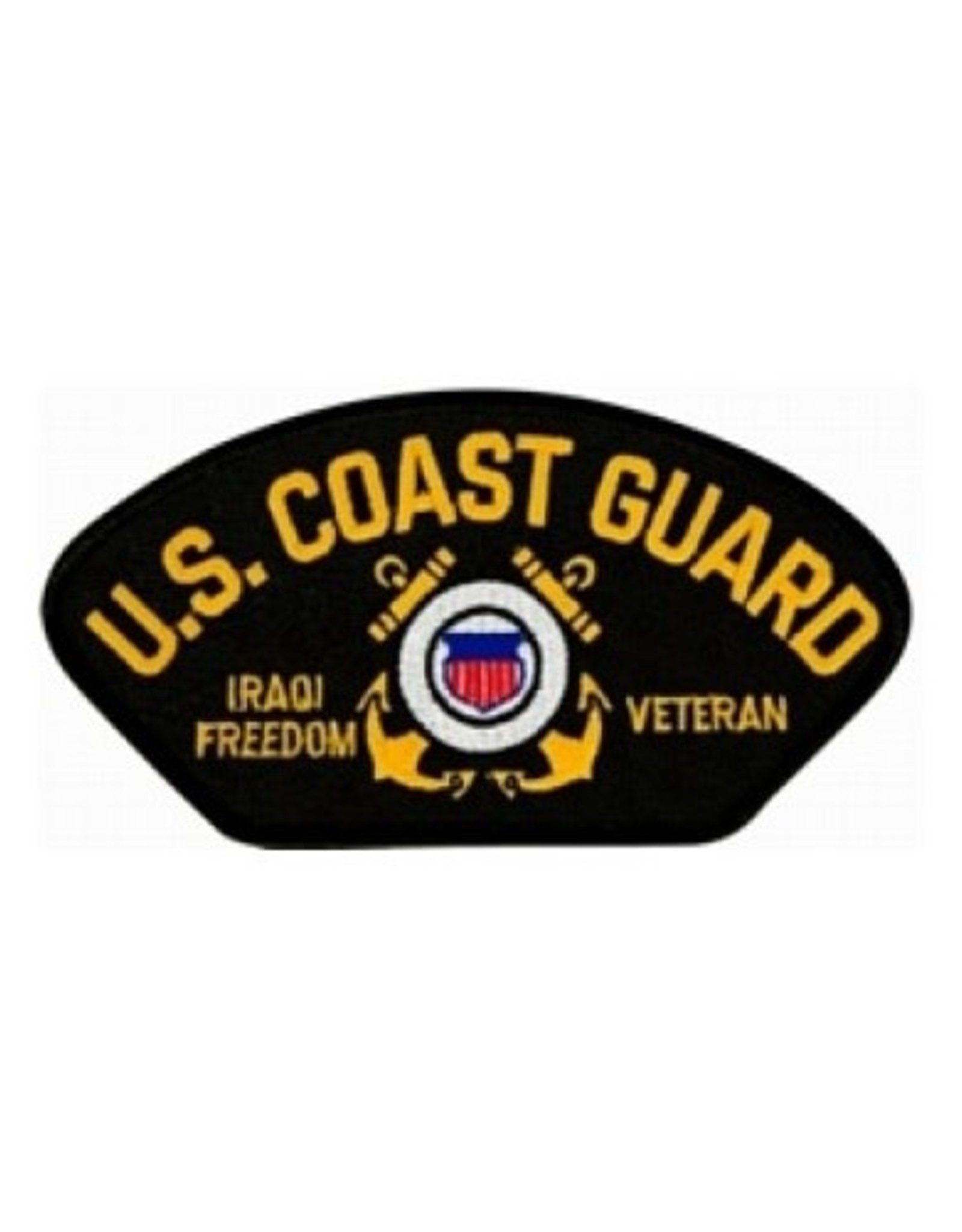 "MidMil Embroidered Coast Guard Iraqi Freedom Veteran Patch with Emblem  5.2"" wide x 2.8"" high"