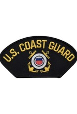 "MidMil Embroidered U.S. Coast Guard Patch with Emblem 5.2"" wide x 2.8"" high Black"