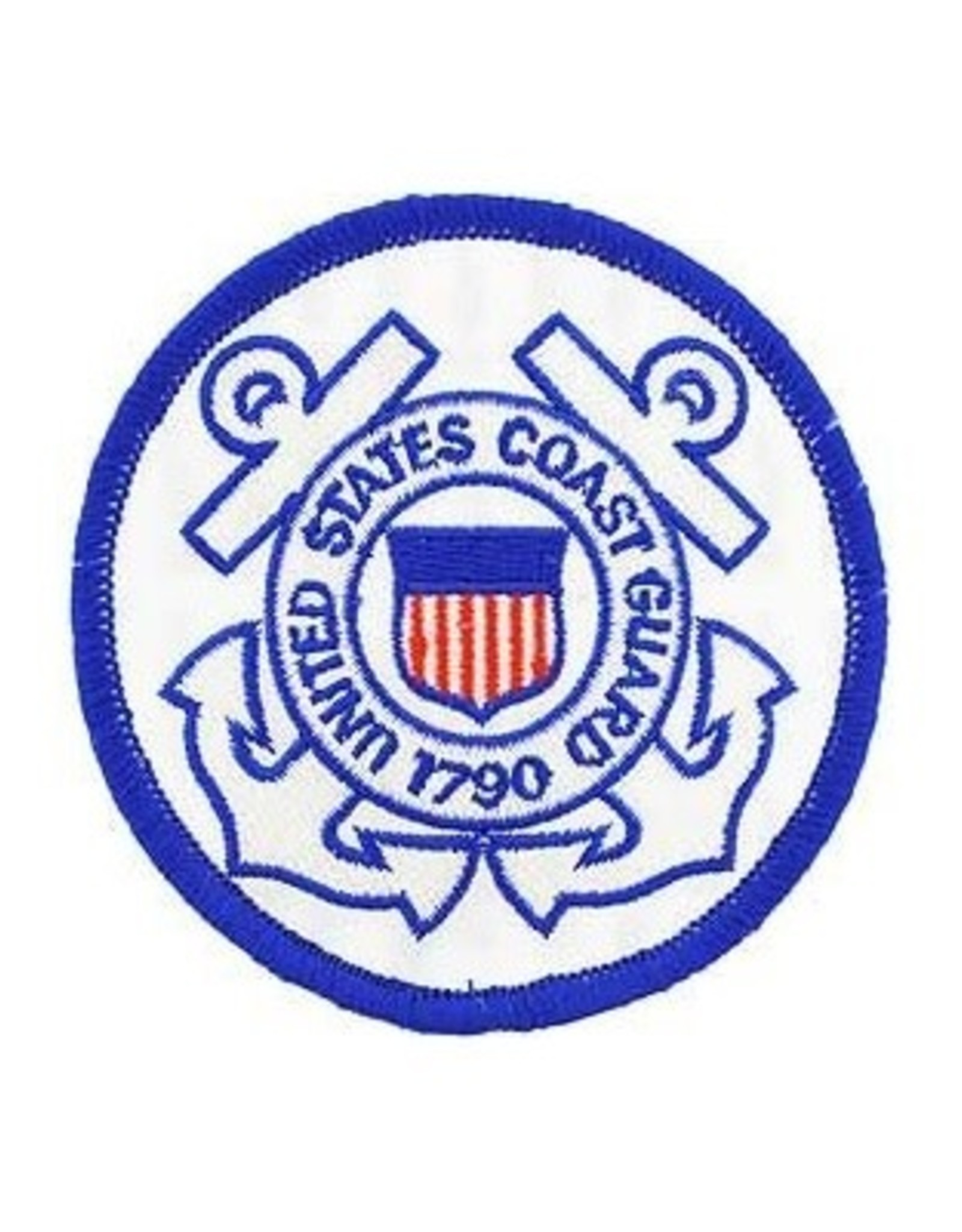 MidMil Embroidered Coast Guard Seal Patch 3""