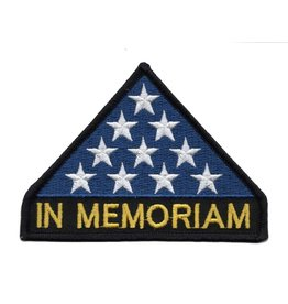 "MidMil In Memoriam Patch with Folded Flag 4.2"" wide x 3"" high"