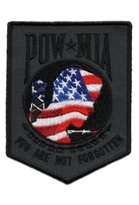 """MidMil Embroidered POW*MIA """"You Are Not Forgotten"""" Patch with RWB Emblem 2.4"""" wide x 3.2"""" high"""