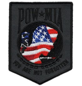 "MidMil Embroidered POW*MIA ""You Are Not Forgotten"" Patch with RWB Emblem 2.4"" wide x 3.2"" high"