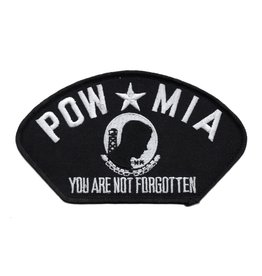 "MidMil Embroidered POW*MIA You Are Not Forgotten Patch 5.2"" wide x 2.9"" high Black"