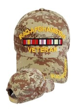 MidMil Iraq- Afghanistan Veteran Hat with Ribbons Desert Digital Camouflage