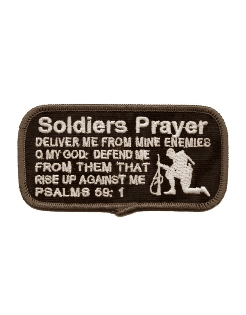"""MidMil Embroidered Soldier's Prayer Patch 4"""" wide x 2"""" high"""