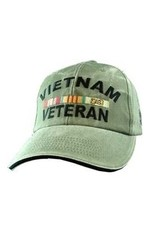 MidMil Vietnam Veteran Hat with All Ribbons Olive Drab