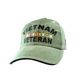 MidMil Vietnam Veteran Hat with All Ribbons Olive Drab