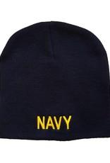 MidMil NAVY Knit Beanie Hat Dark Blue