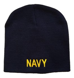 MidMil NAVY Knit Beanie Hat Dark Blue