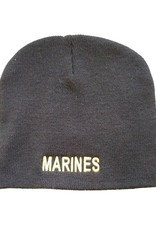MidMil MARINES Knit Beanie Hat Black