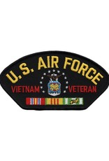"MidMil U.S. Air Force Vietnam Veteran Patch with Emblem Black 5.2"" wide x 2.9"" high"