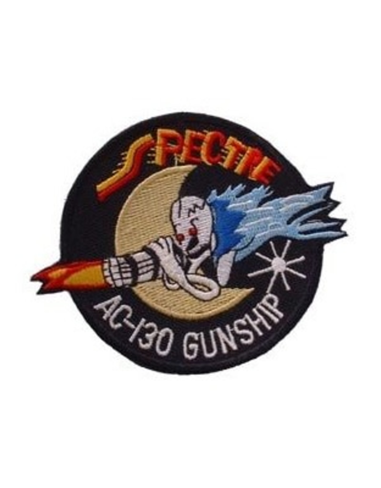 """MidMil Embroidered Air Force Spectre AC-130 Gunship Patch 3.8"""" wide x 3"""" high"""