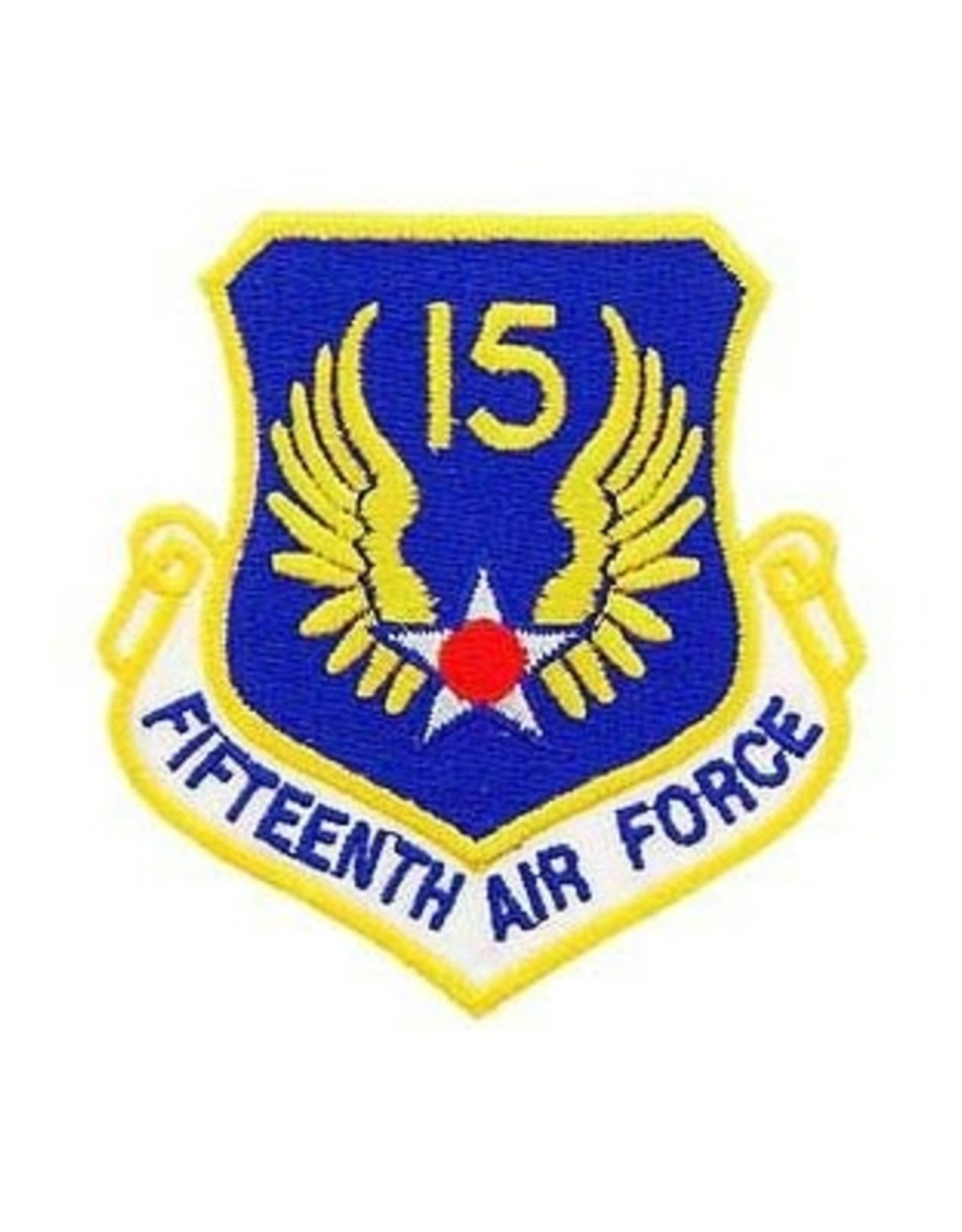 """MidMil Embroidered 15th Air Force Emblem Patch 3.2"""" high x 3"""" wide"""