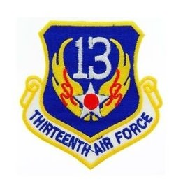 "MidMil Embroidered 13th Air Force Emblem Patch 3.2"" high x 3"" wide"