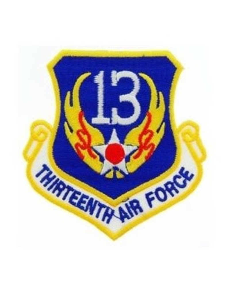 """MidMil Embroidered 13th Air Force Emblem Patch 3.2"""" high x 3"""" wide"""
