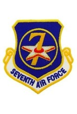 "MidMil Embroidered 7th Air Force Emblem Patch 3.2"" high x 3"" wide"