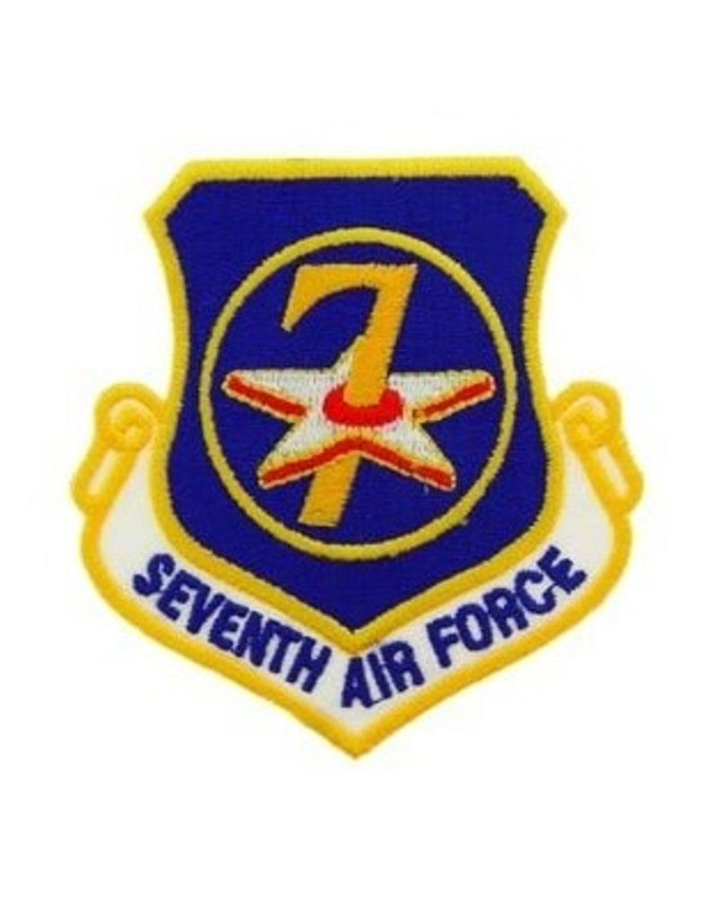 """MidMil Embroidered 7th Air Force Emblem Patch 3.2"""" high x 3"""" wide"""