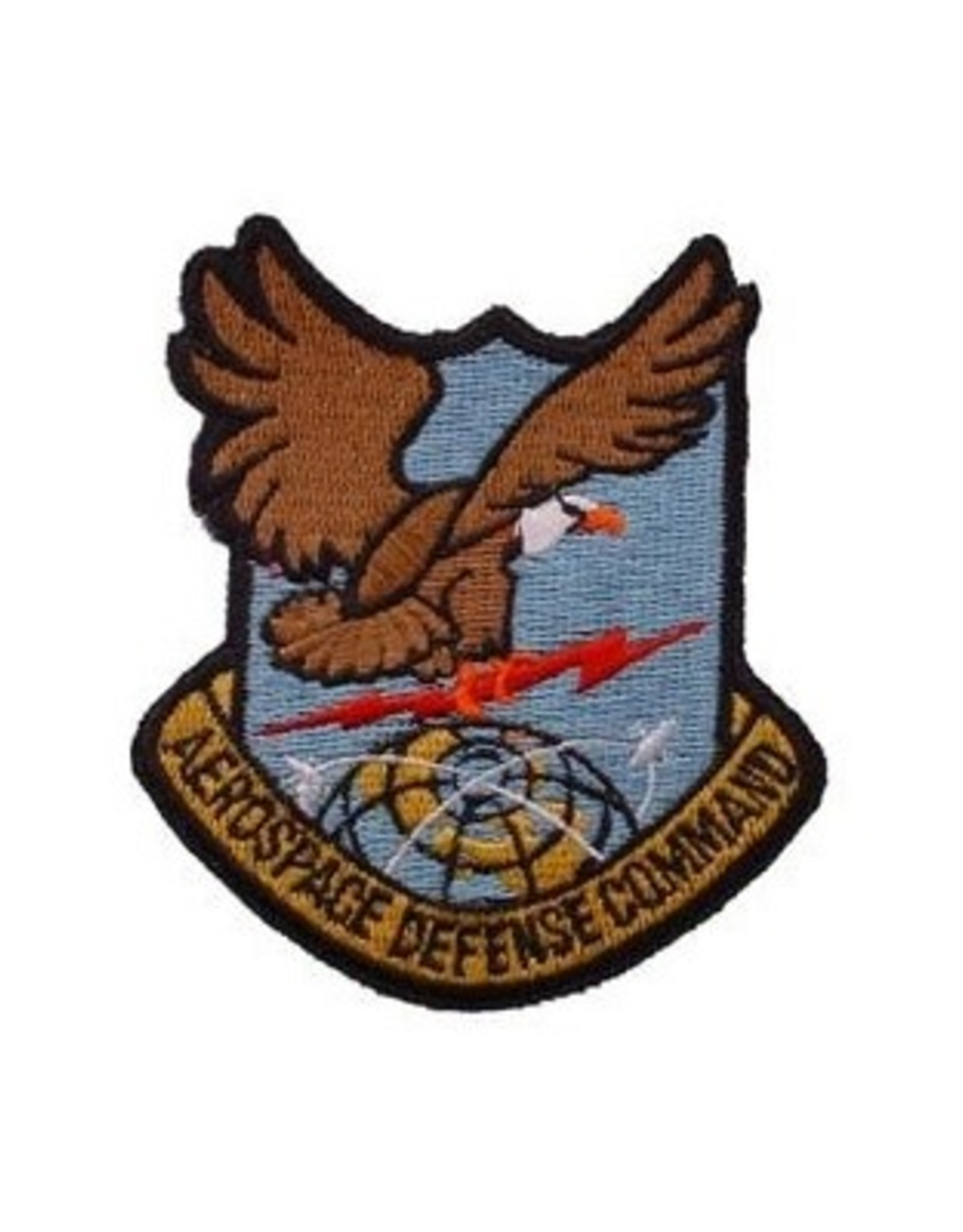 """MidMil Embroidered Air Force Aerospace Defence Command Emblem Patch 3.2"""" high x 2.8"""" wide"""