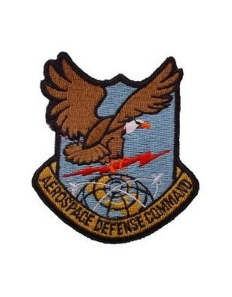 "MidMil Embroidered Air Force Aerospace Defence Command Emblem Patch 3.2"" high x 2.8"" wide"