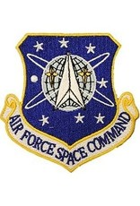 """MidMil Embroidered Air Force Space Command Emblem Patch 3.2"""" high x 3"""" wide"""