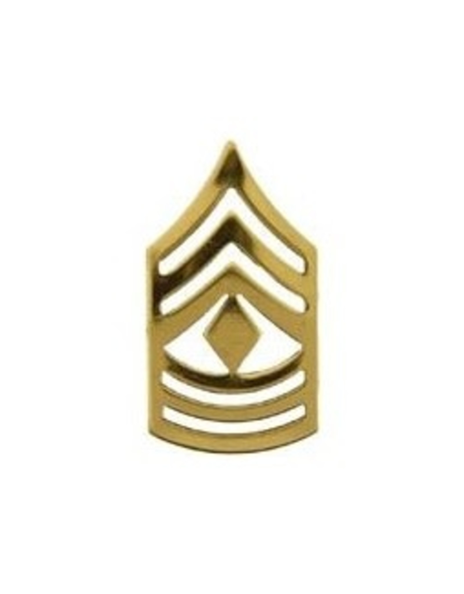 """MidMil Army 1st Sergeant (E-8) Open Gold Rank Pin 1-1/4"""""""