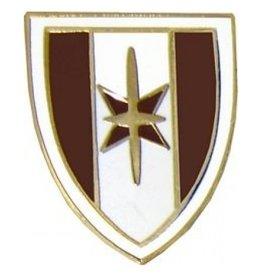 """MidMil 44th Medical Brigade Emblem Pin 7/8"""""""