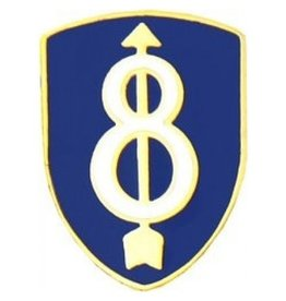 """MidMil 8th Infantry Division Emblem Pin 3/4"""""""
